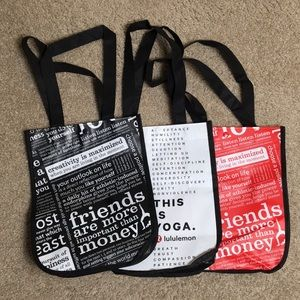 Lululemon reusable small tote bag bundle